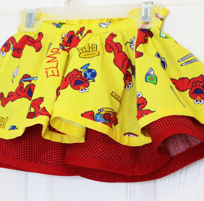 Double Layer Circle Elmo Skirt