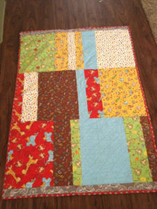 Cycling Baby Quilt