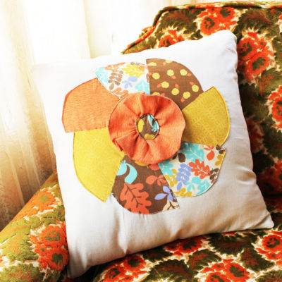 Fall Inspired Pinwheel Pillow Case Free Pattern