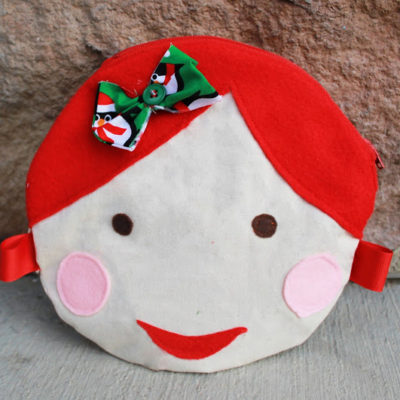 Doll Face Circle Pouch Free Pattern