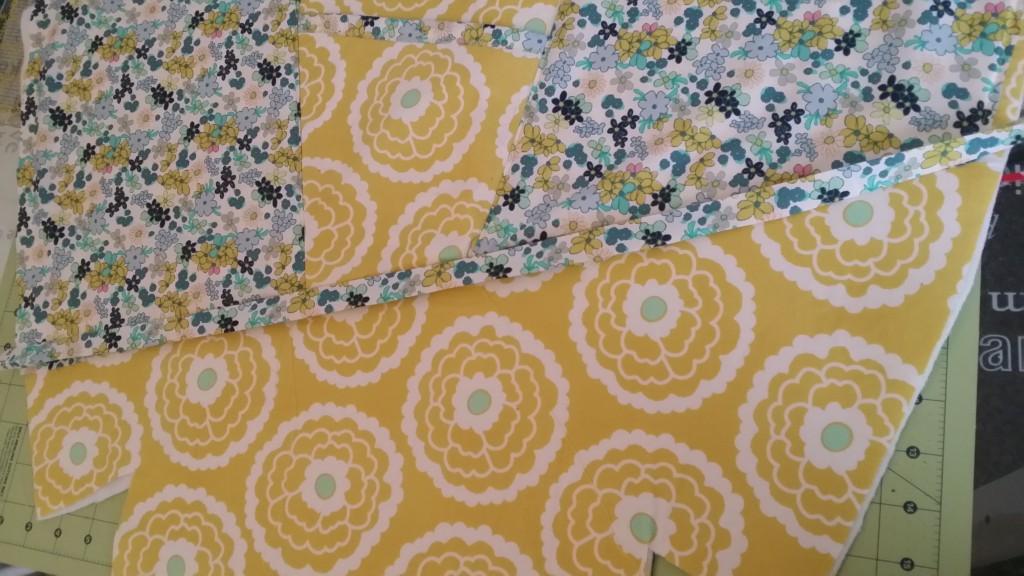 Sew on the overlay binding