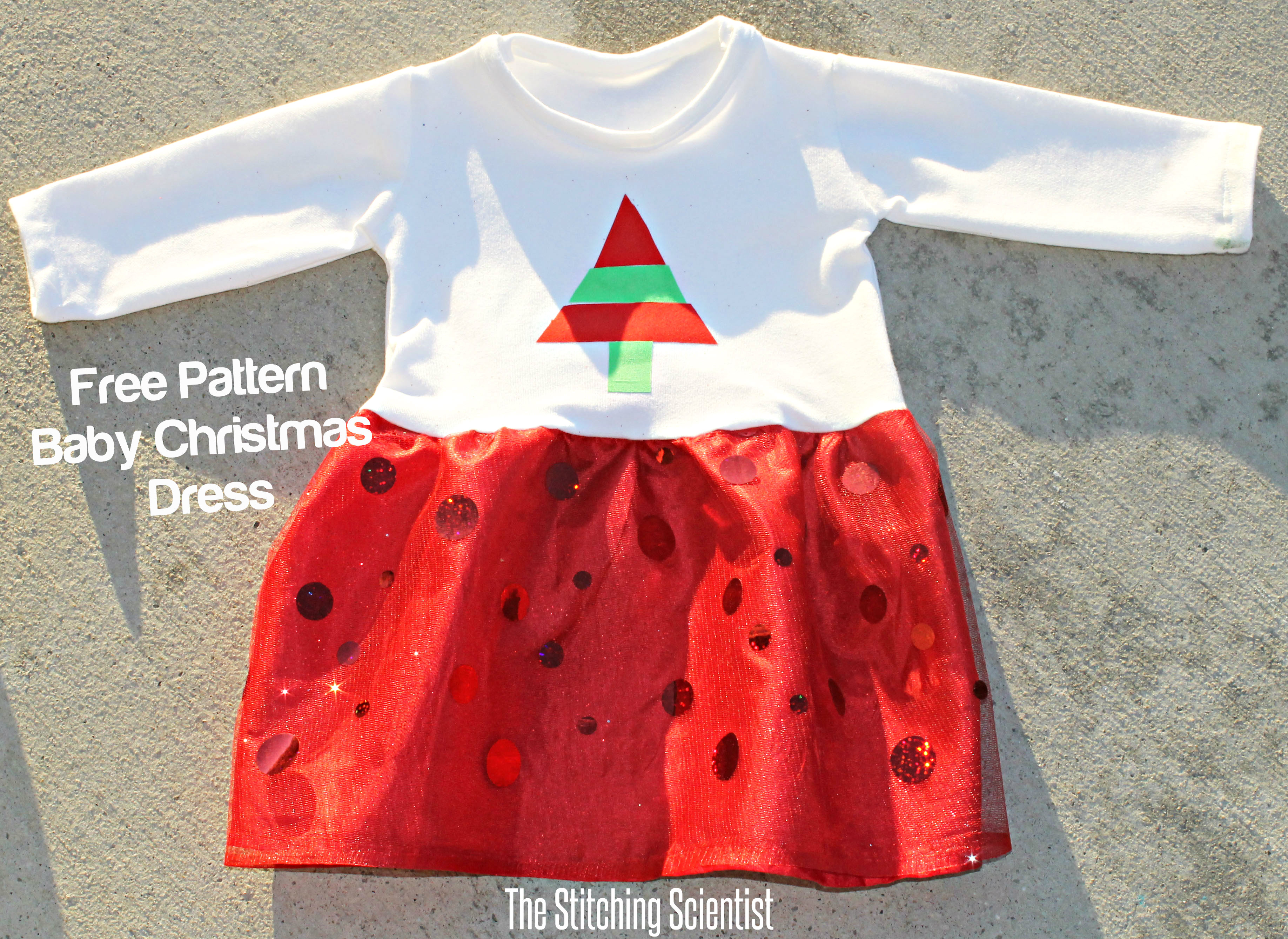 i hope you enjoy this free baby christmas dress pattern please join us in the holiday sewing blog tour hosted by scattered thoughts of crafty mom for other - 12 Month Christmas Dress