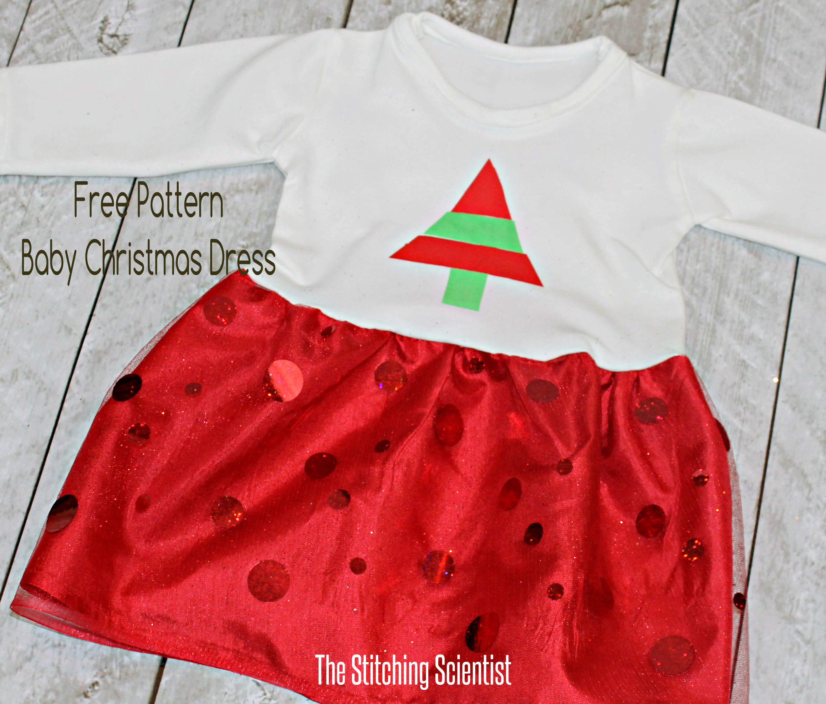 Baby christmas dress baby christmas dress with free pattern bankloansurffo Gallery