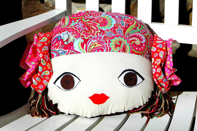 Gypsy Doll Face Pillow Tutorial and Free Pattern