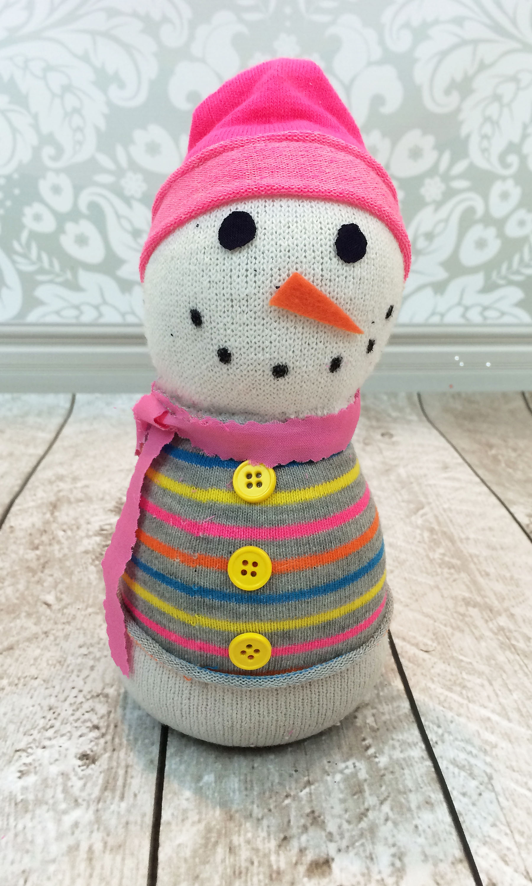 How to make a sock snowman the stitching scientist