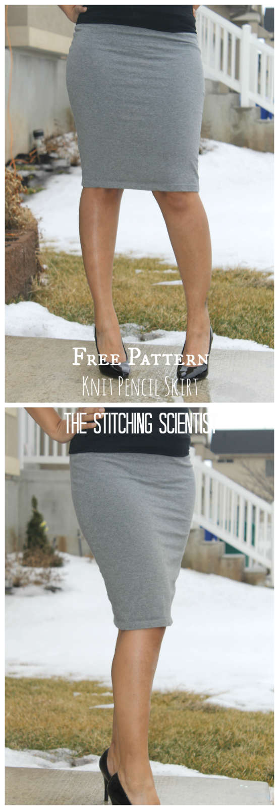 Free Skirt Patterns-Sexy Knit Pencil Skirt