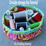How to sew a circular storage bin