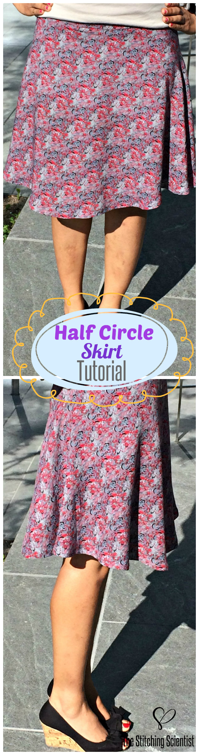 How to make a half circle skirt the stitching scientist jeuxipadfo Gallery