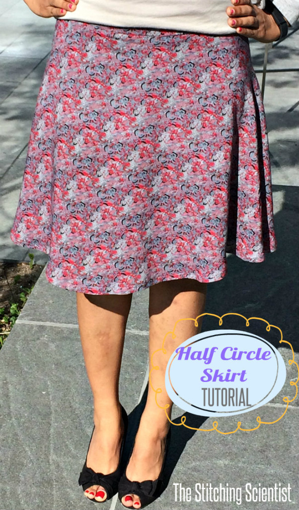 how to make a half circle skirt the stitching scientist