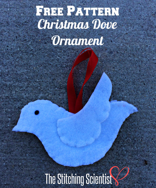 Dove Christmas Ornament with Free Pattern- Christmas in July