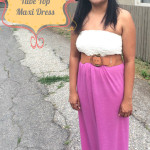 How to make a tube top maxi dress