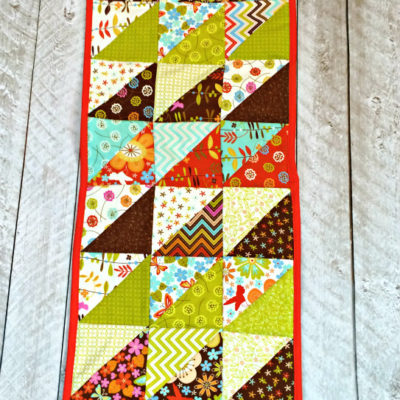 Half Square Triangle Table Runner