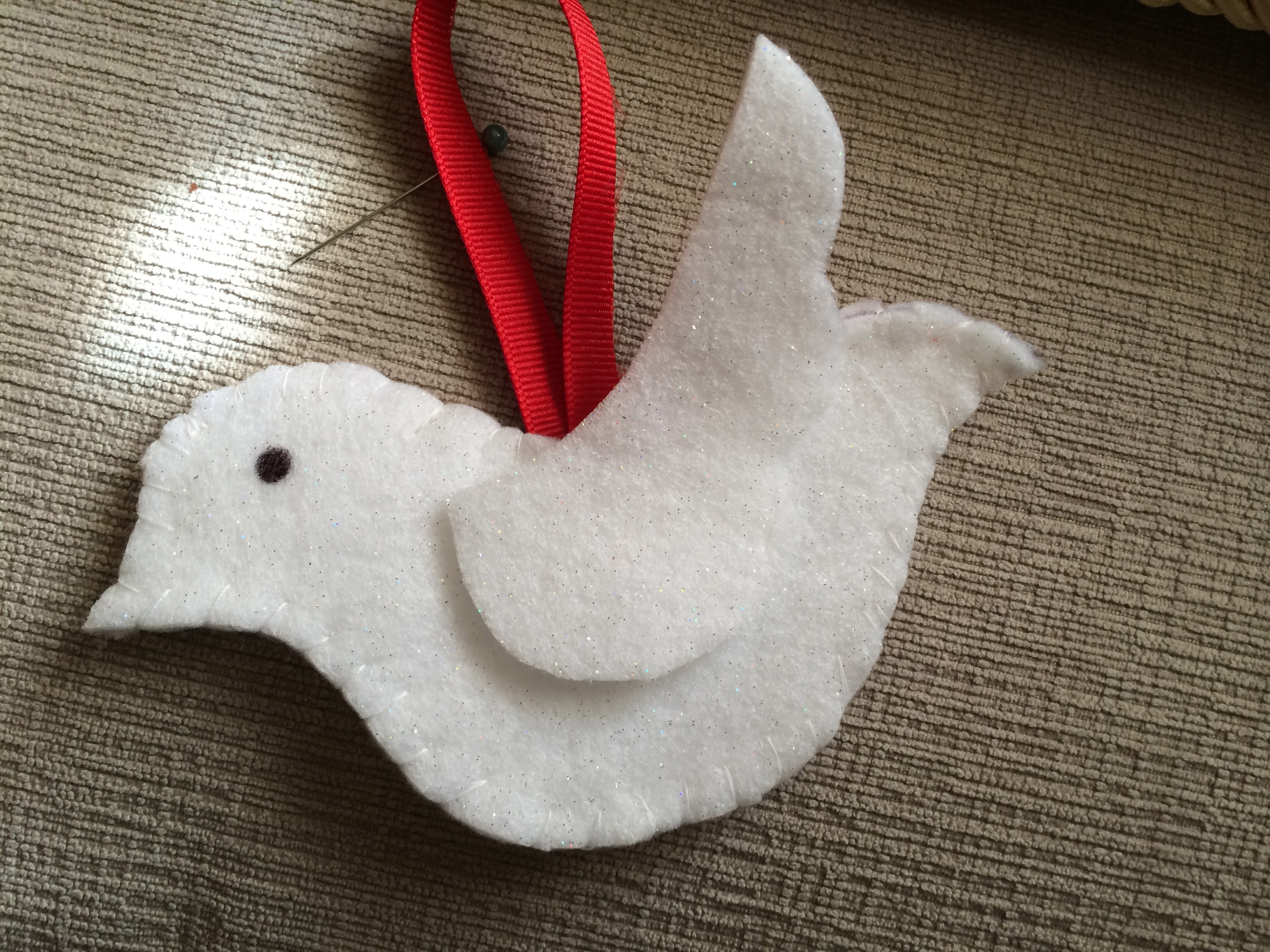 Dove Christmas Ornament with Free Pattern- Christmas in ...