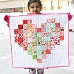 Kudos to Mila for finishing her pixel heart mini quilt!hellip
