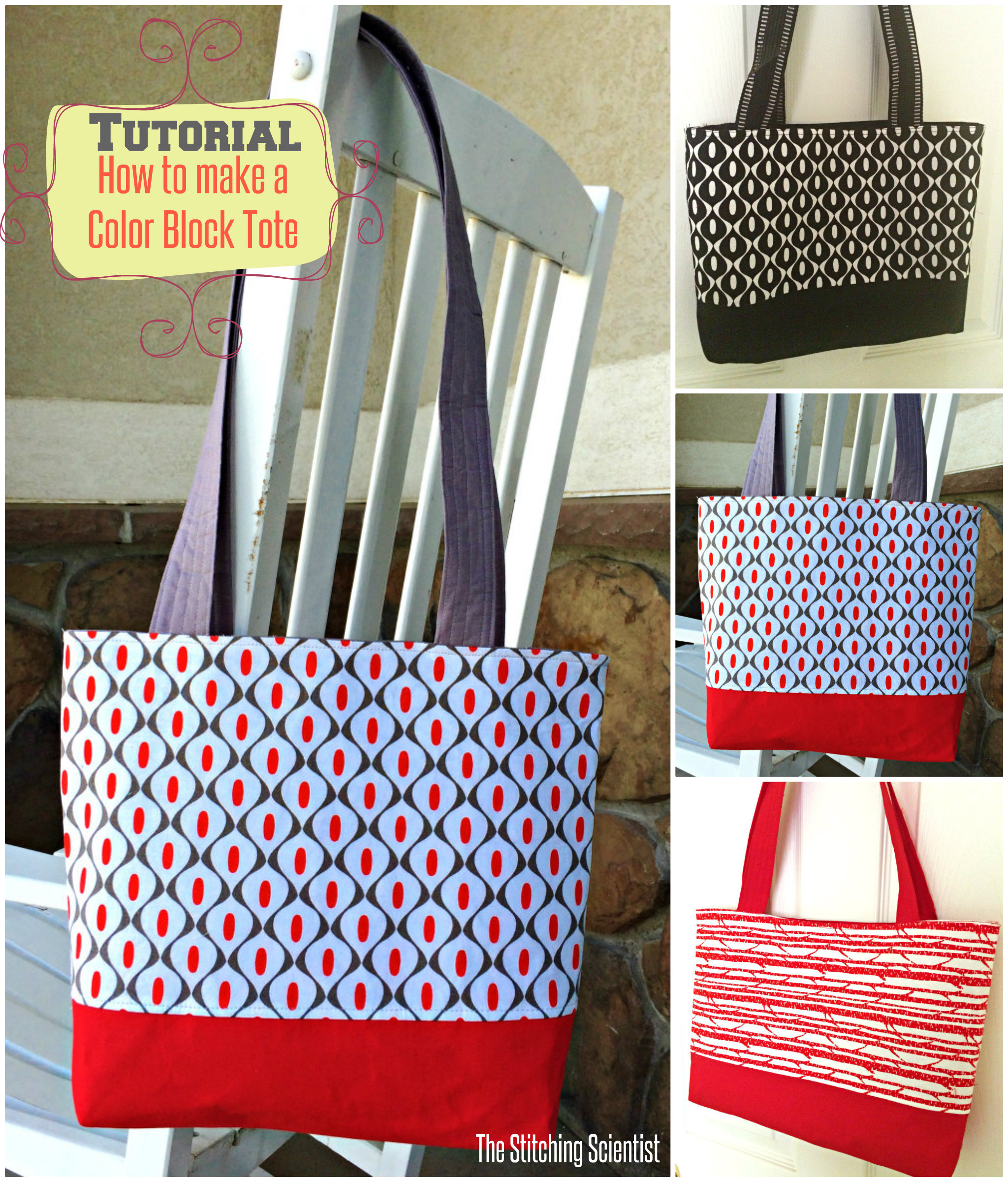 Mod Studio Color Block Totes