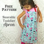 Made my toddler a simple apron. Free pattern on the…