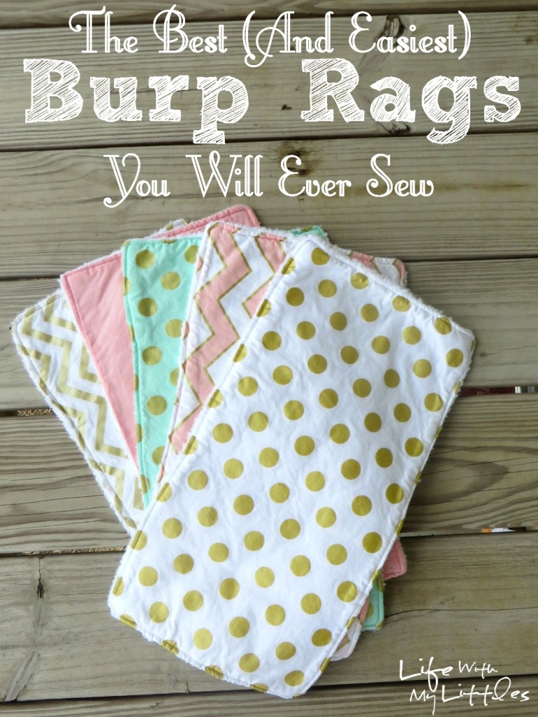 the best and easiest burp rags