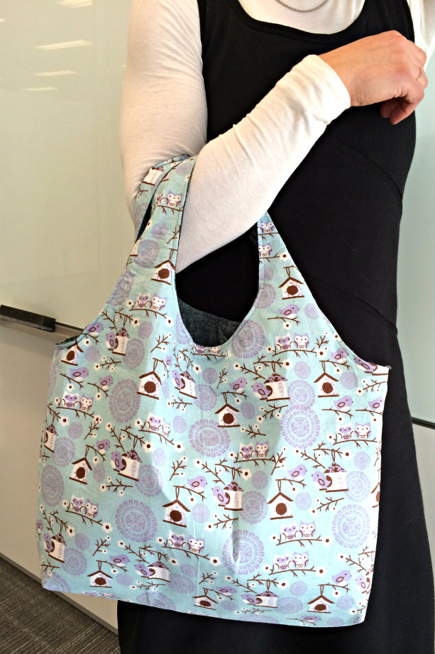 Reversible Hobo Beginner Bag Pattern | The Stitching Scientist