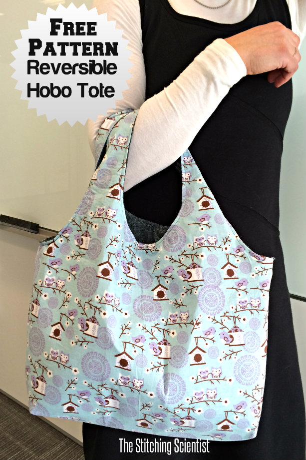 Reversible Hobo Beginner Bag Pattern The Stitching Scientist