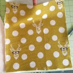 How cute is this home dec fabric! Deers with glasses!…