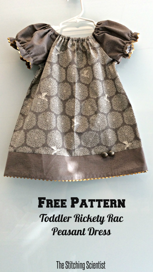 7c21e0472 Free Toddler Peasant Dress Pattern | The Stitching Scientist