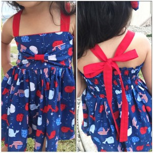 Milas July 4th dress Thanks cailamade for the wonderful tutorialhellip