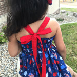 July 4th La Jolla Bow Dress
