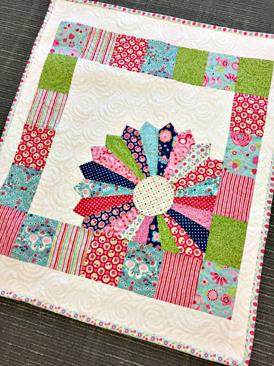 Free quilt pattern for Window pane quilt design