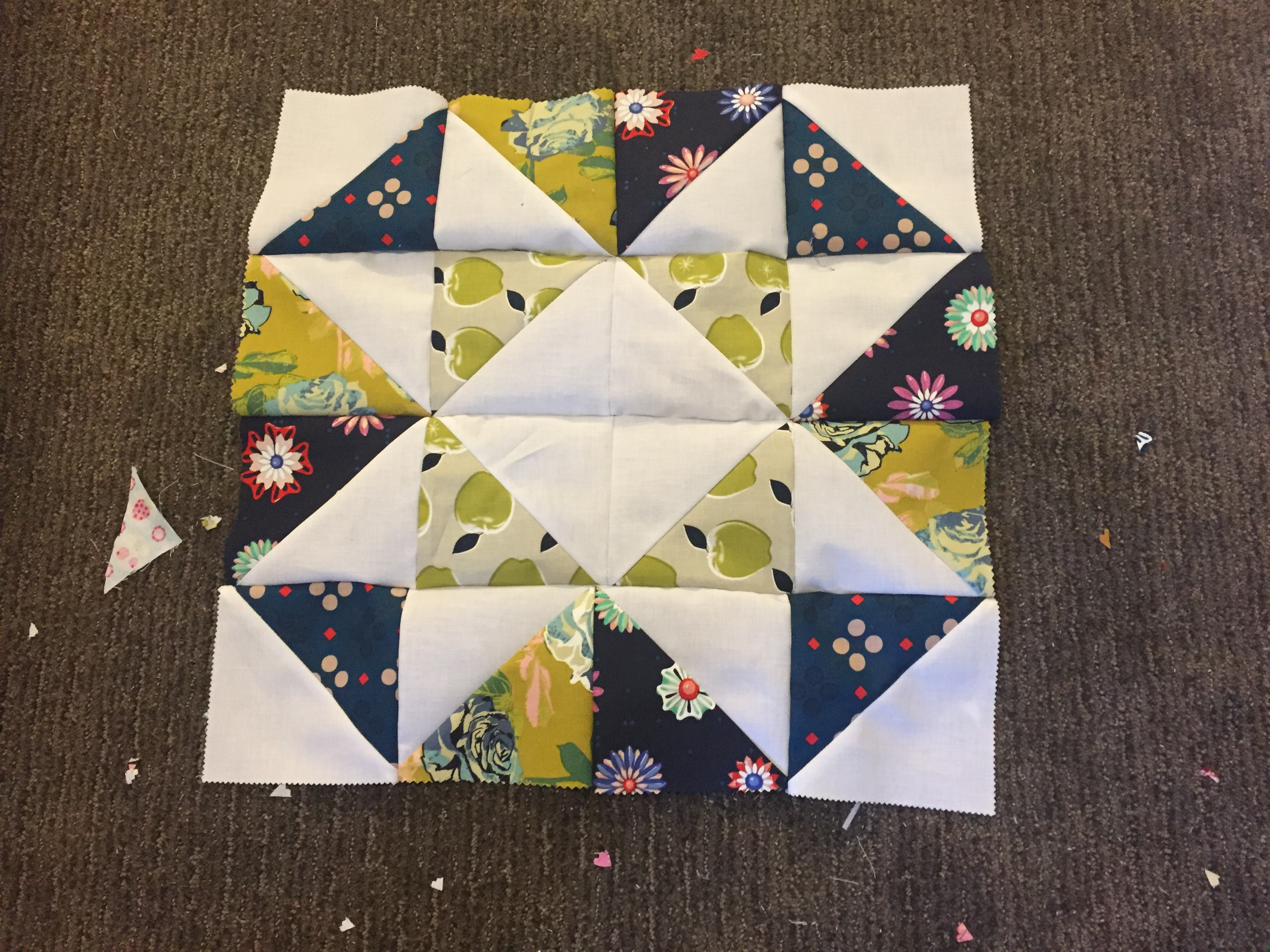 together of table 4 charm runner large using each.  Sew big square squares squares complete rows each