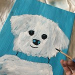 Painting tonight painting canvas acrylic dog dogpainting paintit hobby becreative