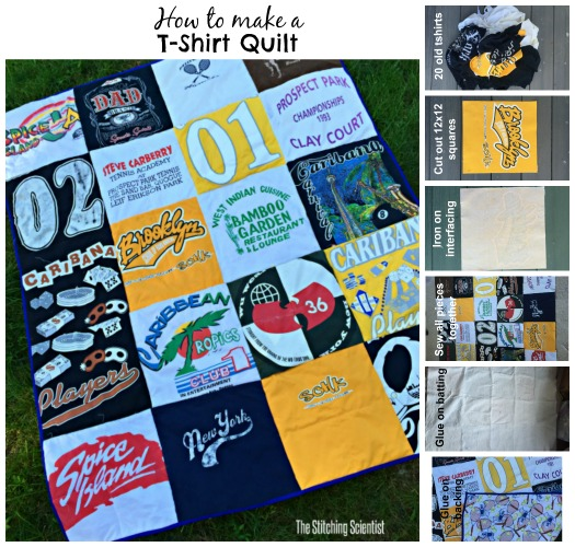 Tshirt quilt the stitching scientist for How to make t shirt quilts easy