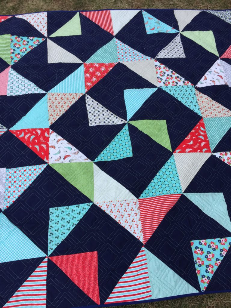 Front Square Wheel Quilt