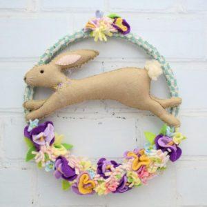 Spring Bunny Wreath