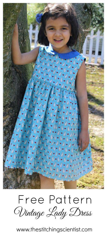 Free Vintage Lady Dress Pattern   The Stitching Scientist