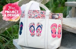 Flip flop Embroidery