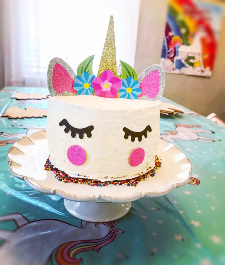 Made With Unicorn Cake Topper White Mix Baking Pan X2