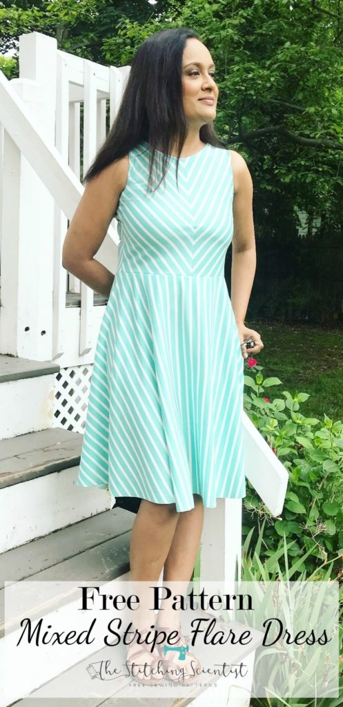 Mixed Stripe Flare Dress