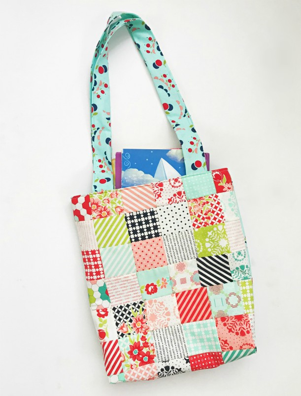 patchwork library bag